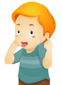 Little Boy Covering His Ears — Stock Photo