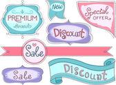 Mağaza ürün etiketleri — Stok fotoğraf