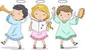 Anjos louvando com música — Foto Stock