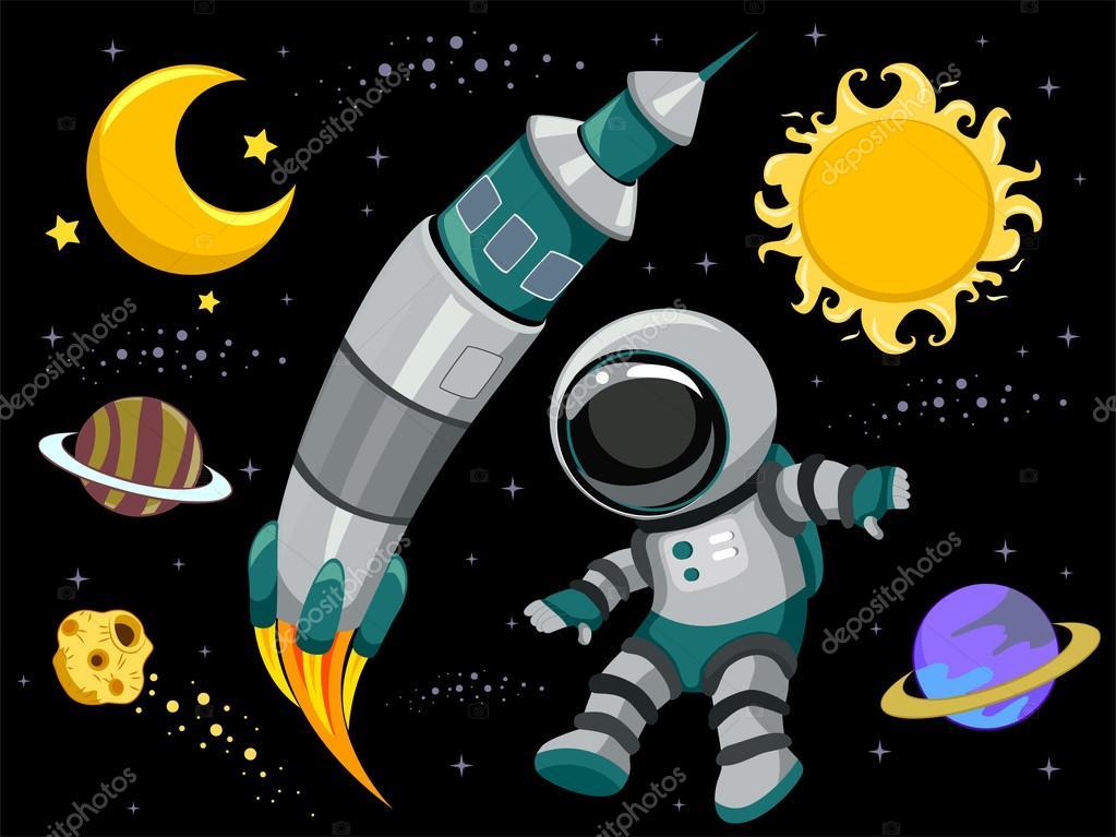 Elementos de diseño del espacio exterior — fotos stock