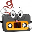 Retro Cassette Tape Mascot — Stock Photo