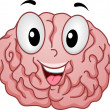 Strong Brain Mascot — Stock Photo