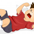 Stock Photo: Boy Throwing Tantrum