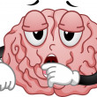 Tired Brain Mascot — Stock Photo