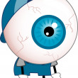 Stock Photo: Tired Eyeball Mascot