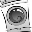 Washing Machine in Black and White — Stock Photo