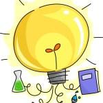 Lightbulb Education Ideas — Stock Photo