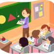 Stock Photo: Kids Learning Shapes in Classroom