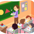 Kids Learning Shapes in a Classroom — Stock Photo