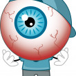 Stock Photo: Red-Eyed Eyeball Mascot