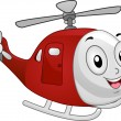 Helicopter Mascot — Stock Photo