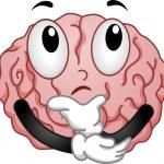 Thinking Brain Mascot — Stock Photo