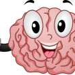 Brain Mascot with OK Handsign — Stock Photo
