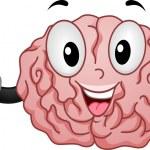 Brain Mascot with OK Handsign — Stock Photo