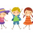 Stickman Kids in Summer Outfit — Stock Photo #32058875