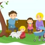 Stickman Family Bonding at the Park — Stock Photo #32058893