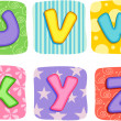 Quilt Alphabet Letters U V W X Y Z — Stock Photo #32058965