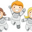 Stock Photo: Kid Astronauts