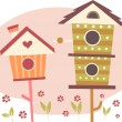 Cute Bird Houses — Stock Photo