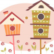 Stock Photo: Cute Bird Houses