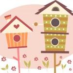 Cute Bird Houses — Stock Photo