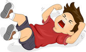 Boy Throwing a Tantrum — Stock Photo