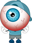 Red-Eyed Eyeball Mascot — Stock Photo
