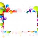 Rainbow Swirl Frame — Stock Vector #3946431