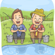 Father and Son Fishing — Stock Photo #39461337