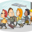 Stock Photo: Airport Passengers