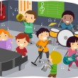 Stock Photo: Kids Music Room