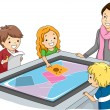 Foto Stock: Interactive Surface Table