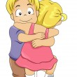 Stock Photo: Sibling Hug