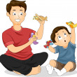 Father and Son Play Time — Stock Photo #39463045