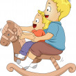 Rocking Horse Siblings — Stock Photo #39463113