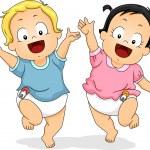 Happy in Diapers — Stock Photo