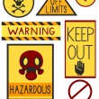 Stock Photo: Warning Labels