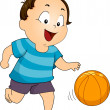 Stock Photo: Basketball Boy