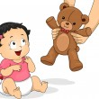 Stock Photo: Teddy Bear Girl