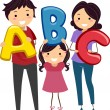 ABC Family — Stock Photo