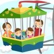 Stickman Ferris Wheel Family — Stock Photo #39463955