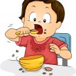 Boy Eating — Stock Photo