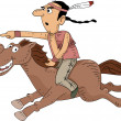 Native American Horseback Riding — Stock Photo