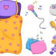 Slumber Party Elements — Stock Photo