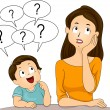 Mom and Son Questions — Stock Photo #39465153