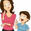 Mom and Son Questions — Stock Photo #39465197