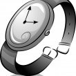 Black and White Wristwatch — Stock Photo