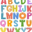 Stock Photo: Alphabet Mascots