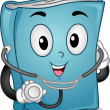 Medical Book Mascot — Stock Photo
