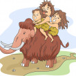 Caveman Family Ride — Stock Photo #39466601